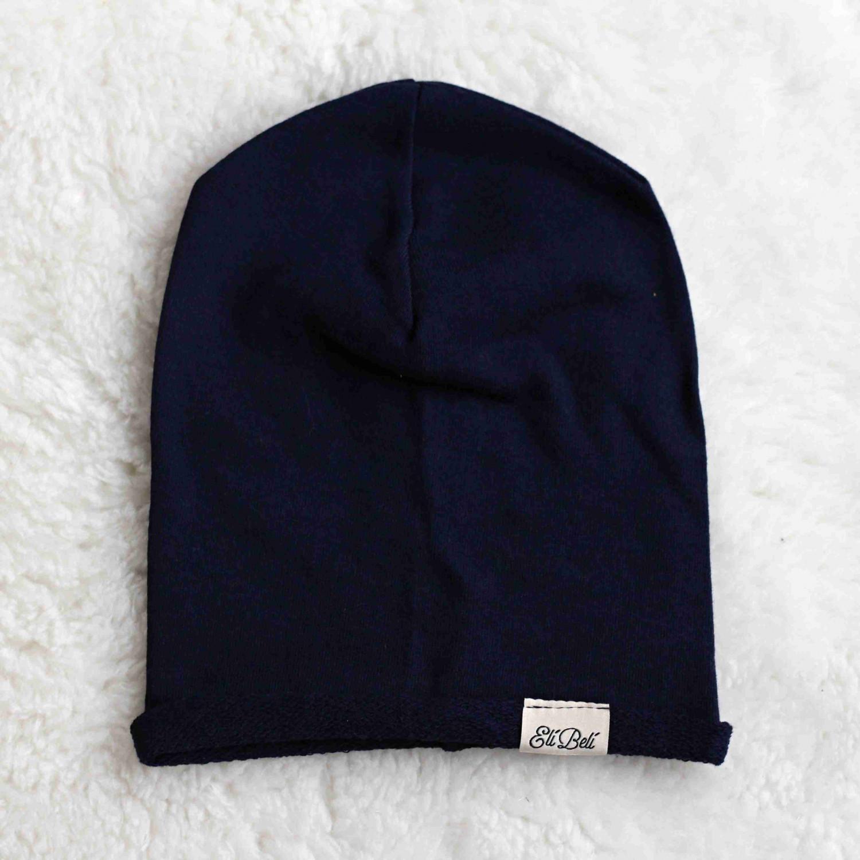 Elí Belí kroucená čepice - tmavě modrá