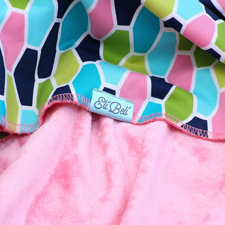 Bambusová deka - růžové bombónky