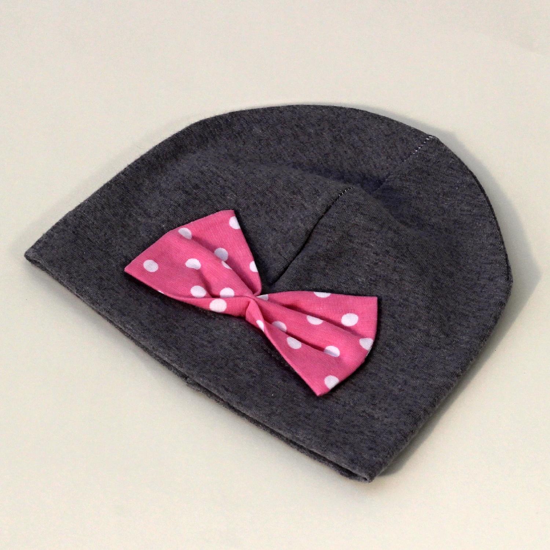 Čepička Minnie - mašle růžová antiperle